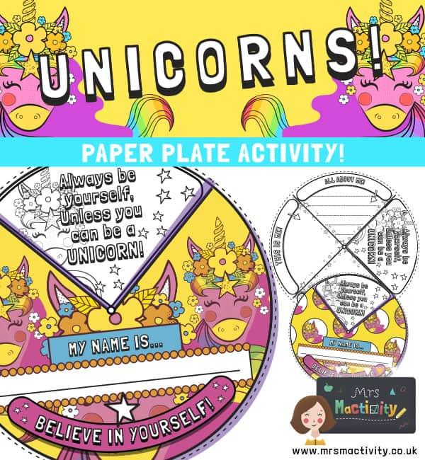 Unicorn Paper Plate Craft Activity