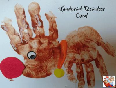 handprint reindeer card idea