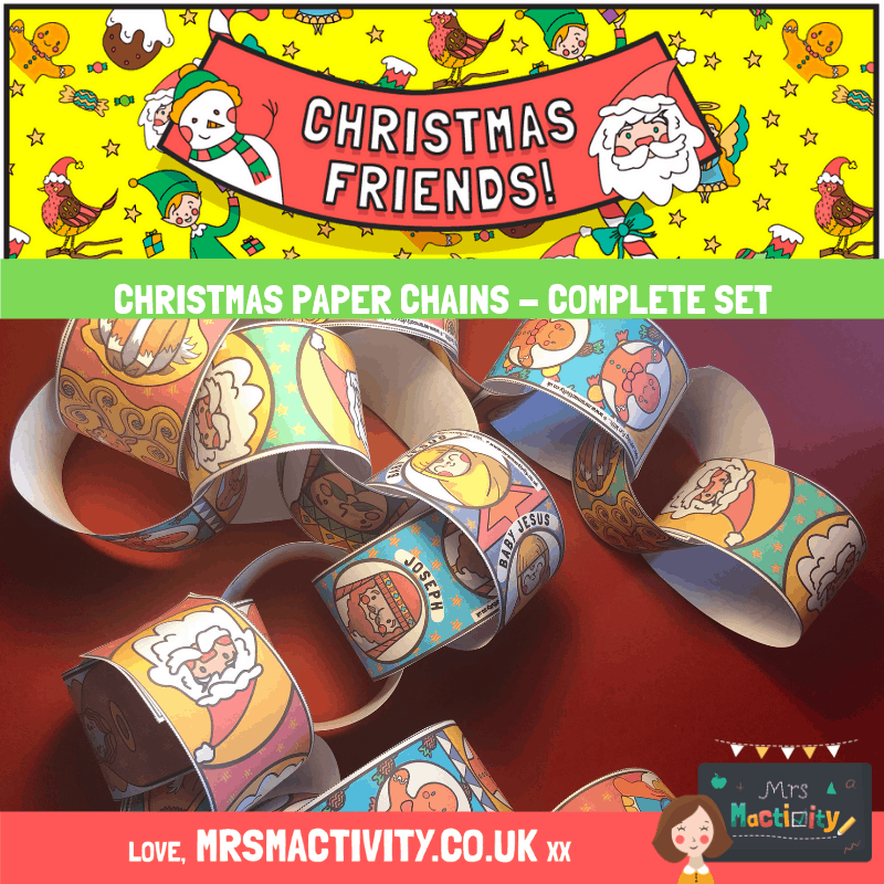 Free Christmas paperchains