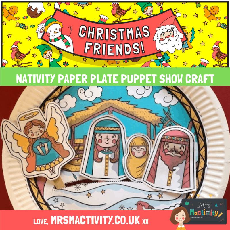Nativity puppet show craft idea