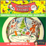 Christmas Paper Plate Puppet Show Craft
