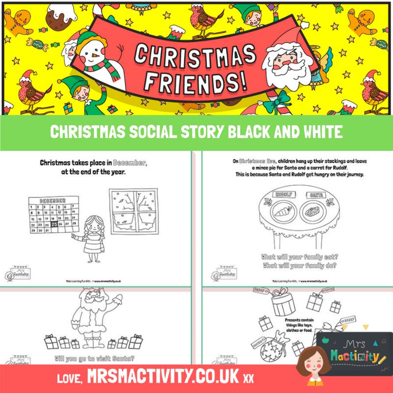 Christmas social story black and white