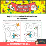 free christmas pencil control sheet