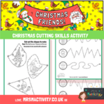 Christmas cutting skills activity