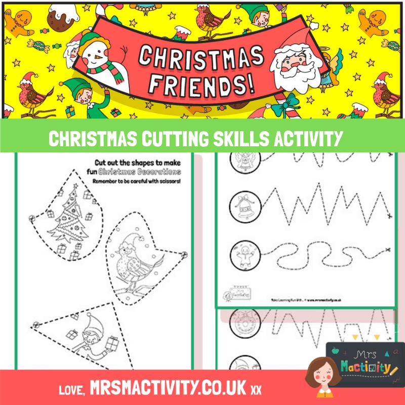Christmas cutting skills activity