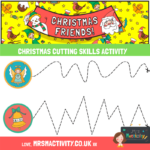 free christmas cutting skills activity