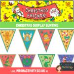 Christmas display bunting