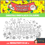 Christmas mindfulness colouring