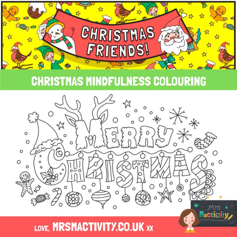 Christmas mindfulness colouring