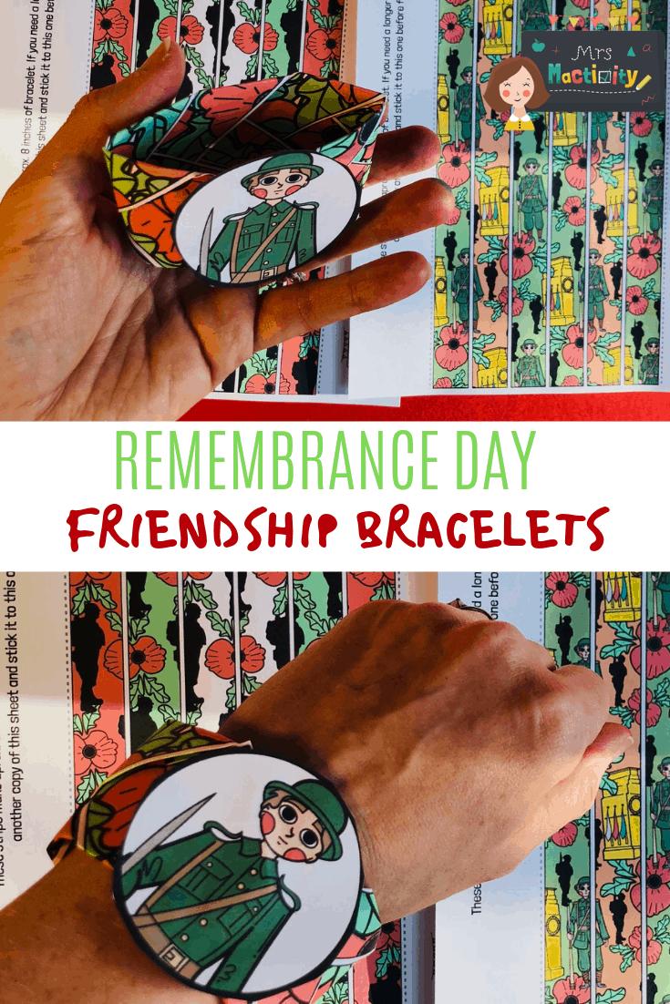 Remembrance day friendship bracelet