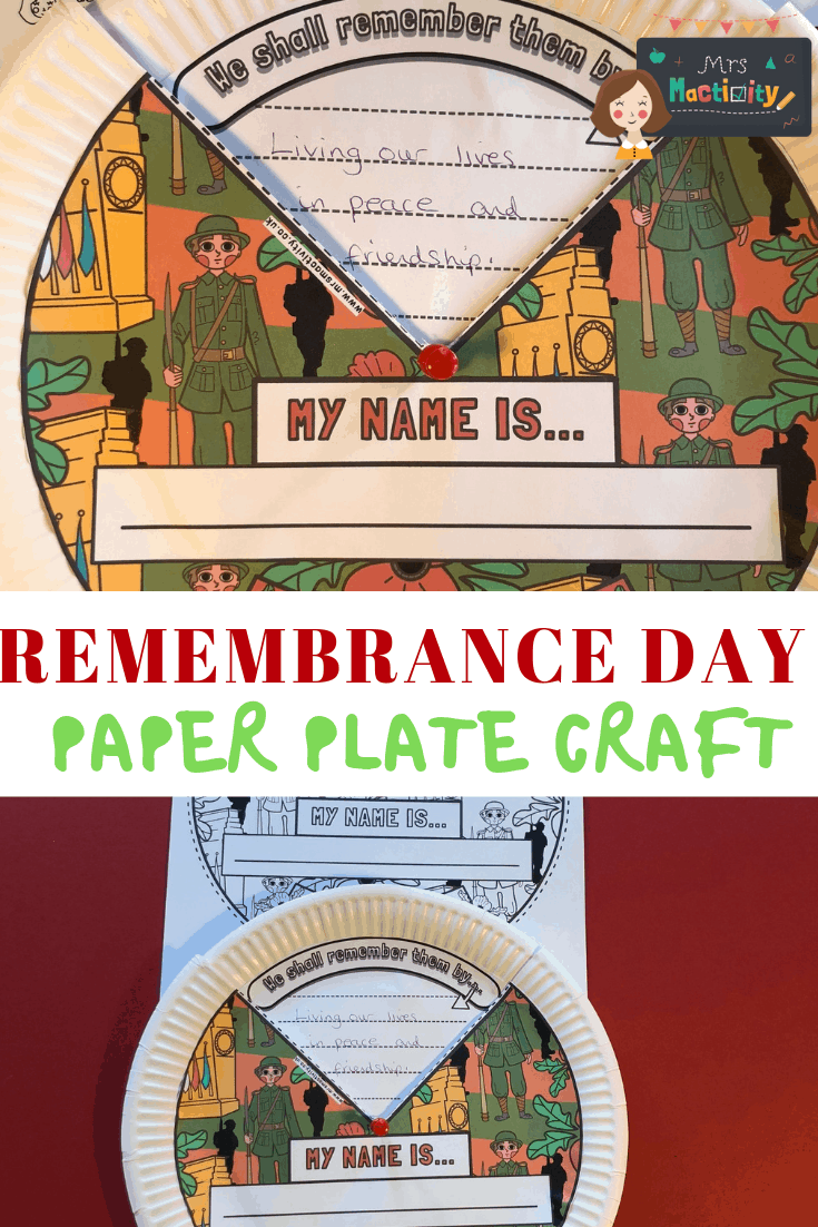 Remembrance Day paper plate craft