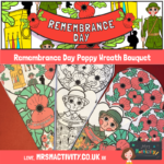 Remembrance day paper craft poppy bouquet