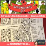 in Flanders Fields Bookmark Black and White