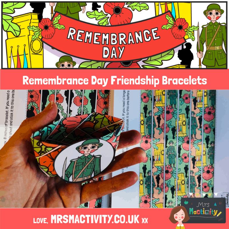 remembrance day friendship bracelets