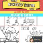 Humpty Dumpty colour by number