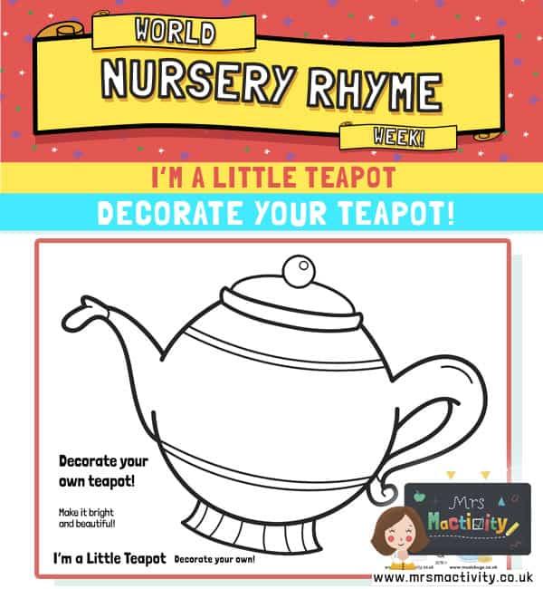 I'm a little teapot template