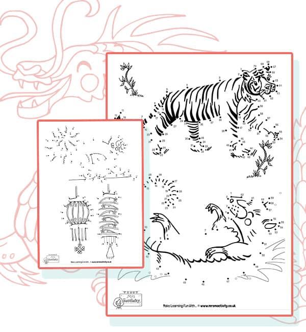 chinese new year dot to dot sheets
