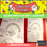 Childrens Calendar Paper Plate Craft Black and White