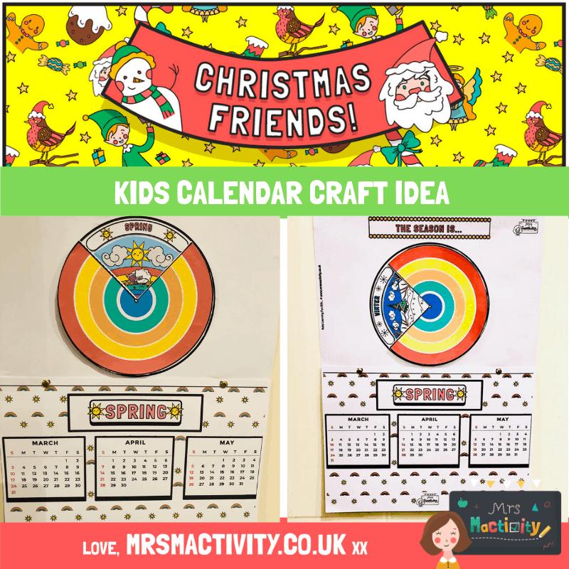 Kids Calendar Craft Idea
