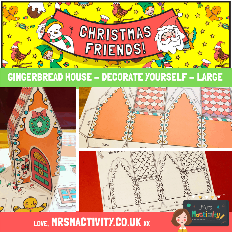 Christmas Gingerbread House with decals