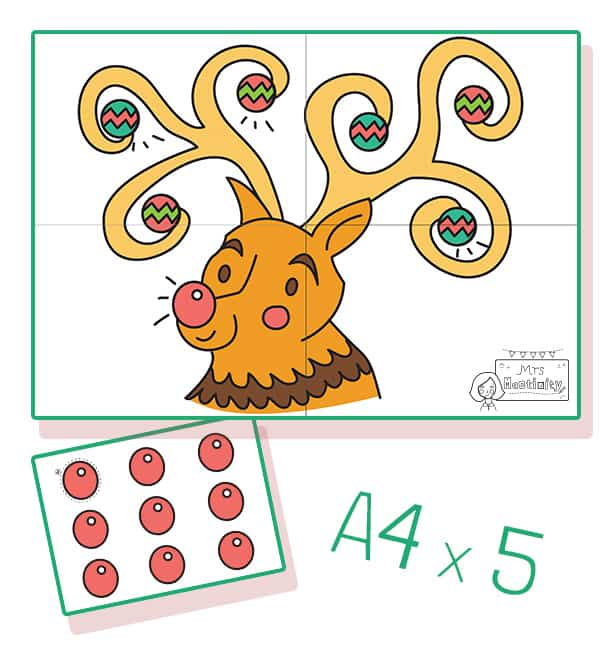 Pin the tail on rudolph game
