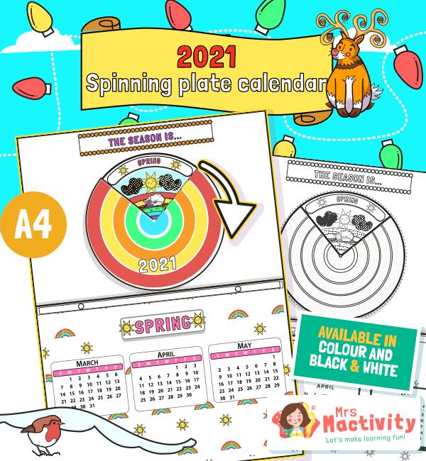 Children's Calendar Paper Plate Craft