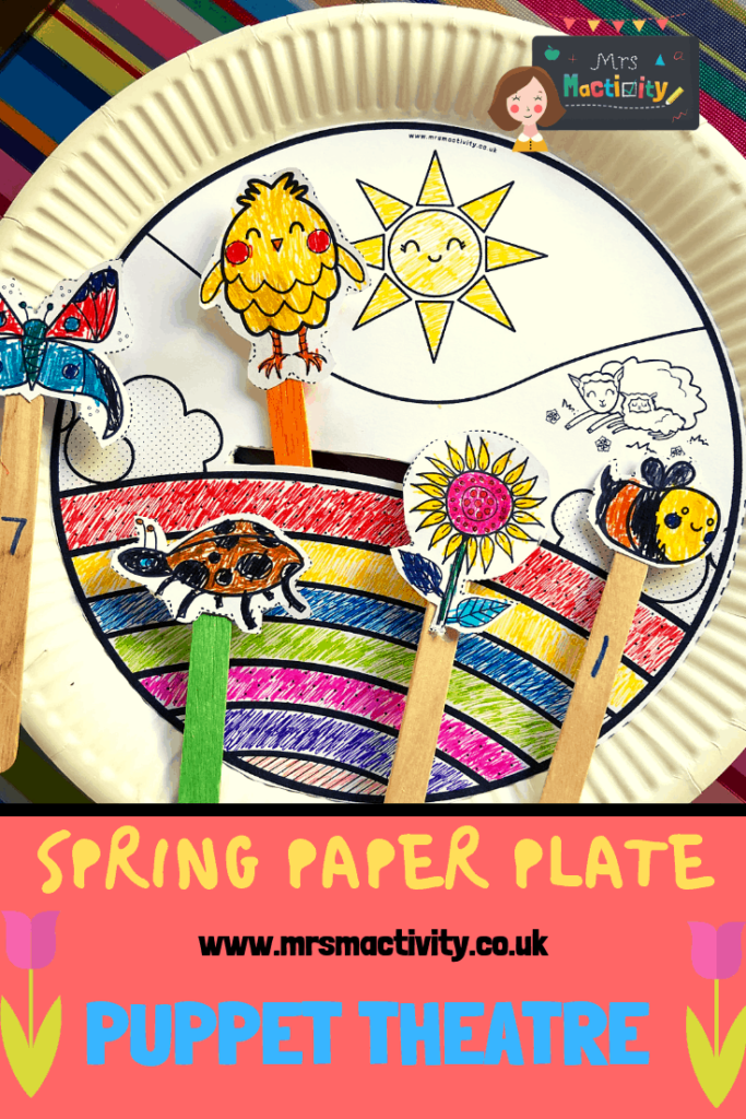 Spring Paper Plate Puppet Theatre