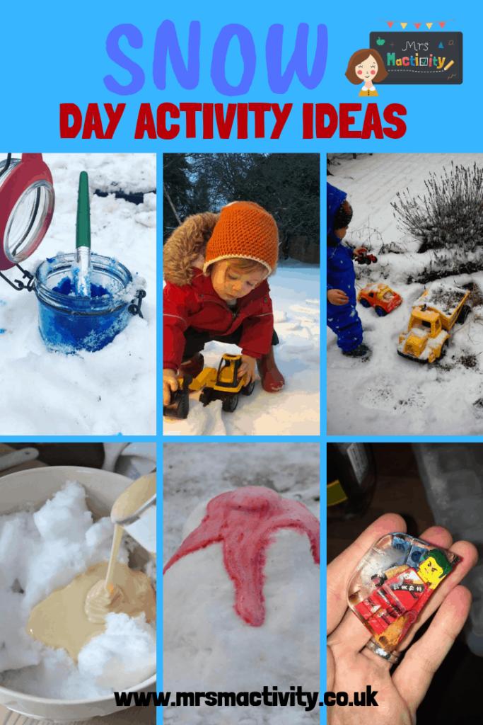 Snow day activity ideas