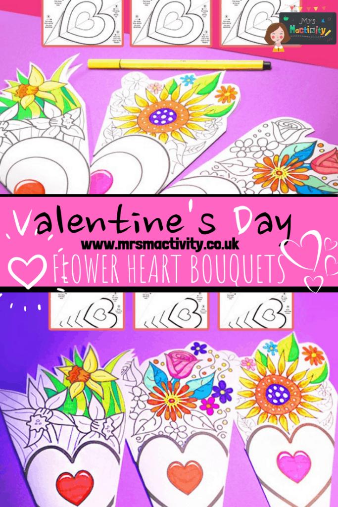 Valentine's Paper Flower Bouquet Craft