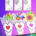 Valentine's Day Paper Flower Bouquet Craft
