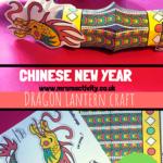 Dragon Chinese lantern craft template