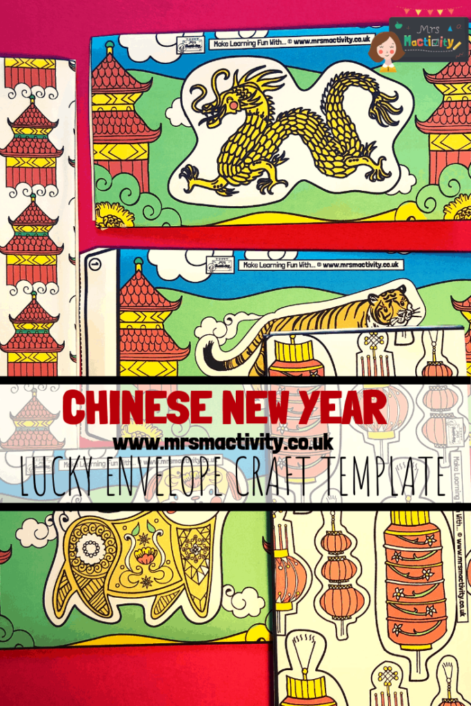 Chinese Envelope Craft Template - Colour