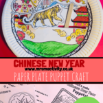 Chinese new year paper plate puppet craft