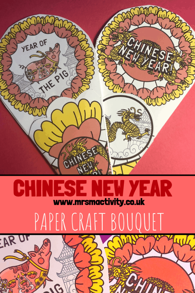 Chinese New Year Paper Craft Bouquet