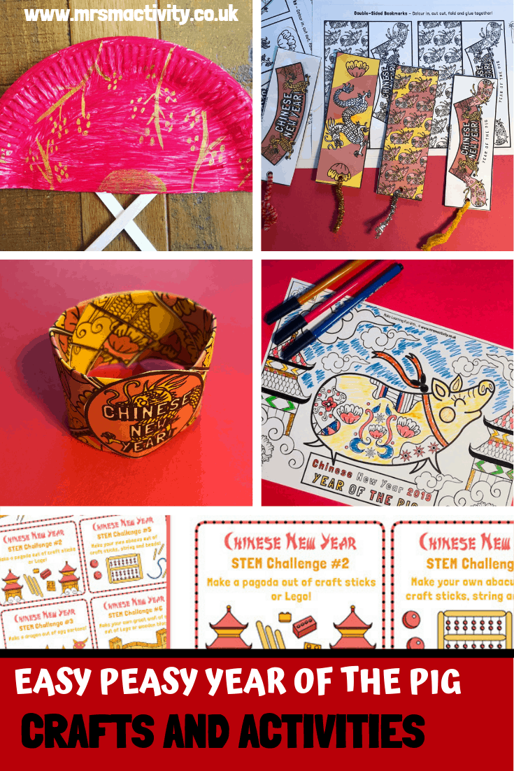 Easy Year of the Pig Crafts and Activities
