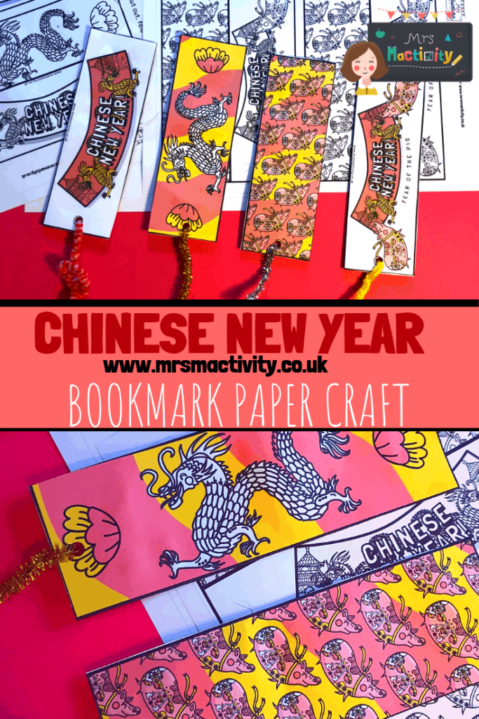 Chinese new year bookmark paper craft