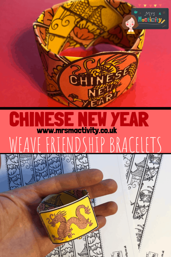 Chinese new year weave bracelet