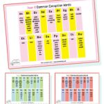year 2 common exception word mats