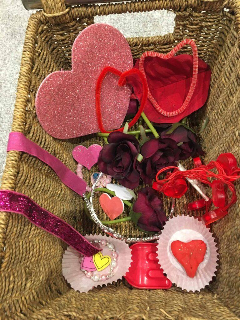 babys valentines treasure basket