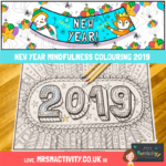 New year mindfulness colouring 2019