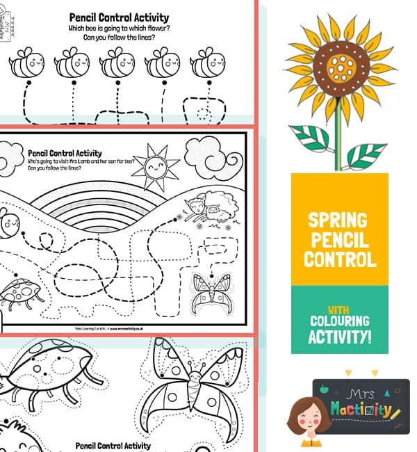 Spring Pencil Control Activity