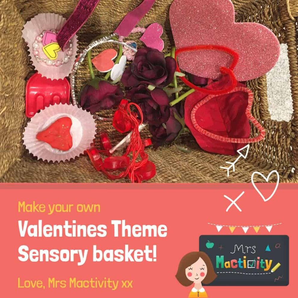 Valentine's Day Treasure Basket and Sensory Bottle