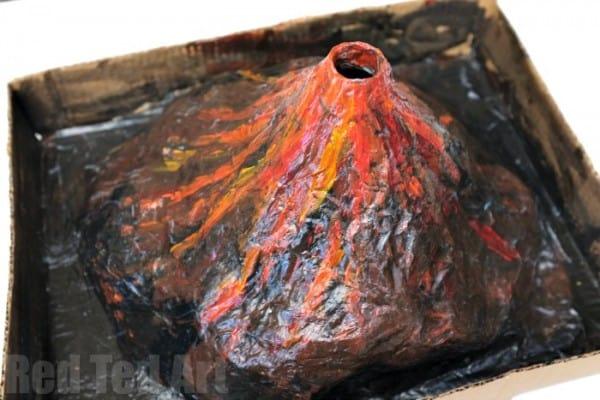 papier mache volcano science week