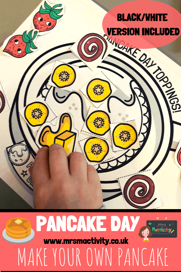 Pancake day topping activity