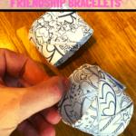 Valentine's Day paper friendship bracelets