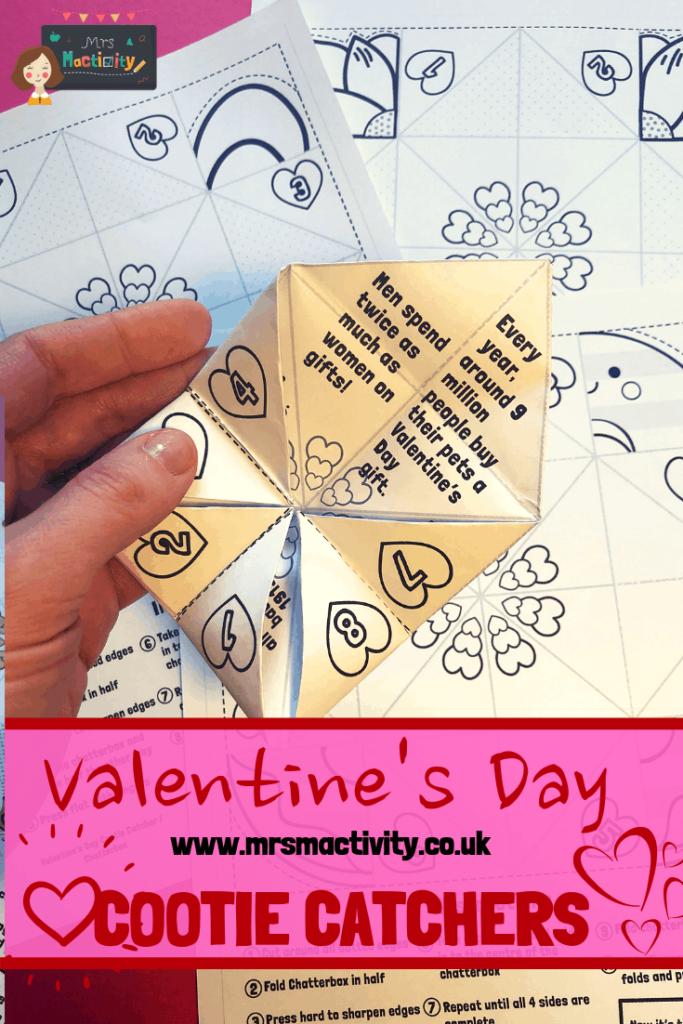 Valentine's Day cootie catchers printables