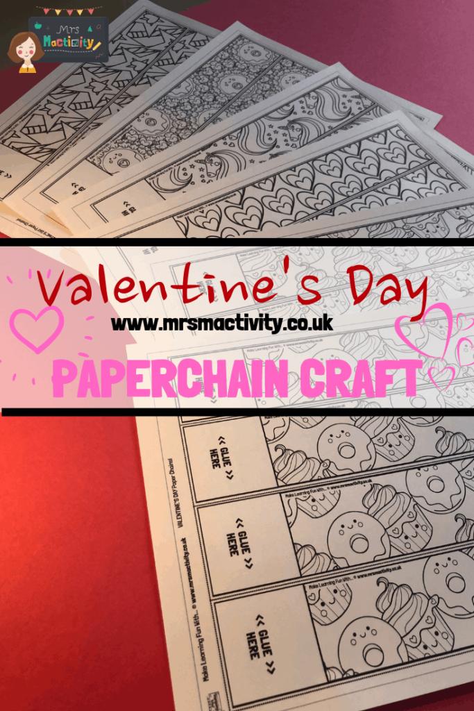 Valentine's Day Paper Chain Craft