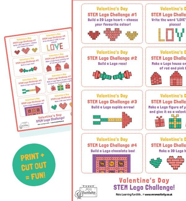 Valentine's Day lego cards
