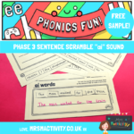 Phonics Phase 3 Sentence Scramble - ai Sound