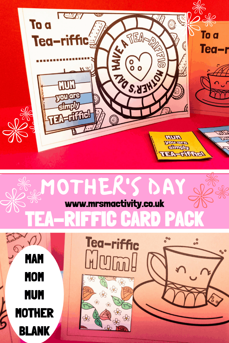 Mother's Day TEA-riffic card complete pack